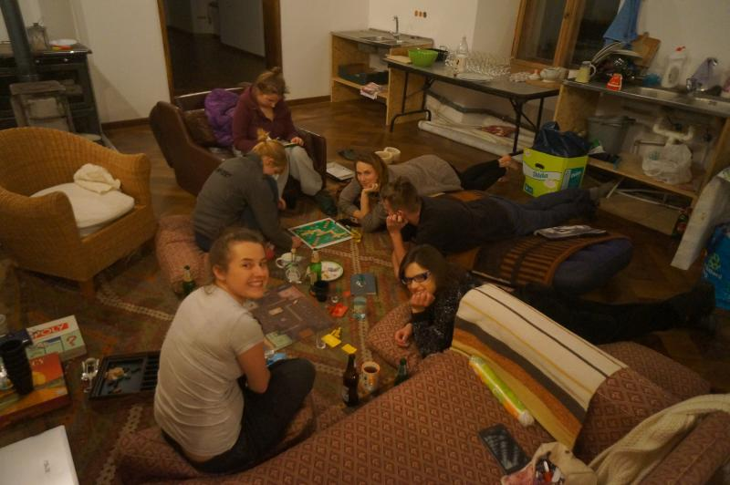 great a country house party. Board games, reading books, long walks (and we do have the internet)