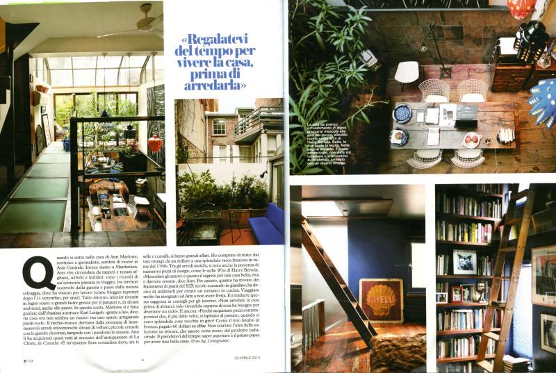 Feature on 36 Leroy in La Repubblica's weekend magazine