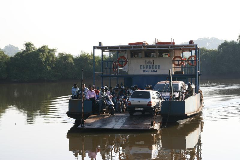 The Ferry - mode of transport to/from the island.  Rs 10 only per car - guests free