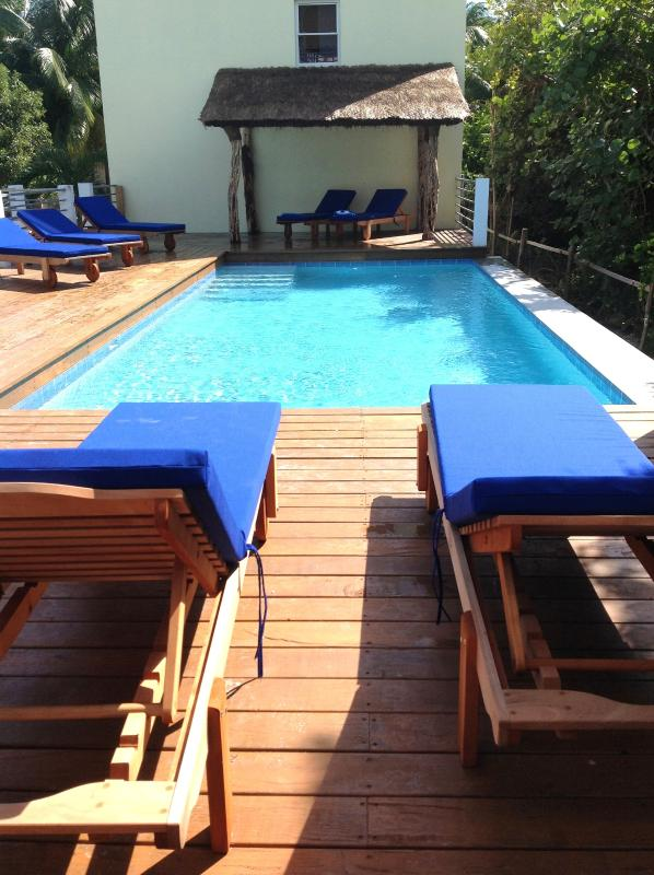 Fresh water swimming Pool shared with our other home in this private enclave