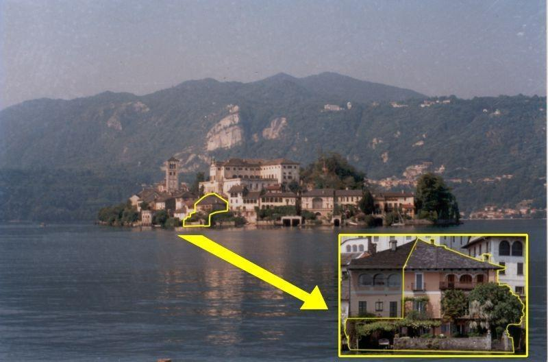 Villa Monziani, 17th C lakeside villa on island with boat & mainland garage. 5 bedrooms, 4 bathrooms
