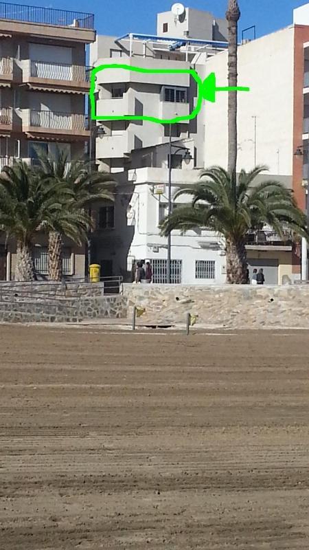 Apartamento desde la playa.