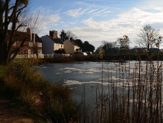 Village pond nearby