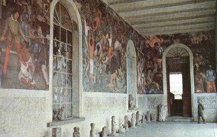 Palace of Cortes/Cuahnahuac Museum with Diego Rivera Murals of the Conquest