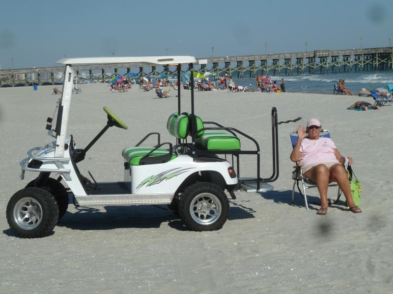 Zip around the plantation in your own electric golf cart.....who else does this for their guests??