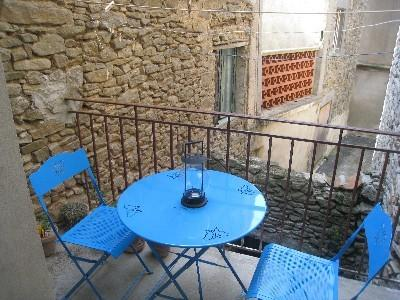 Secluded balcony to enjoy a local bottle of wine for two!
