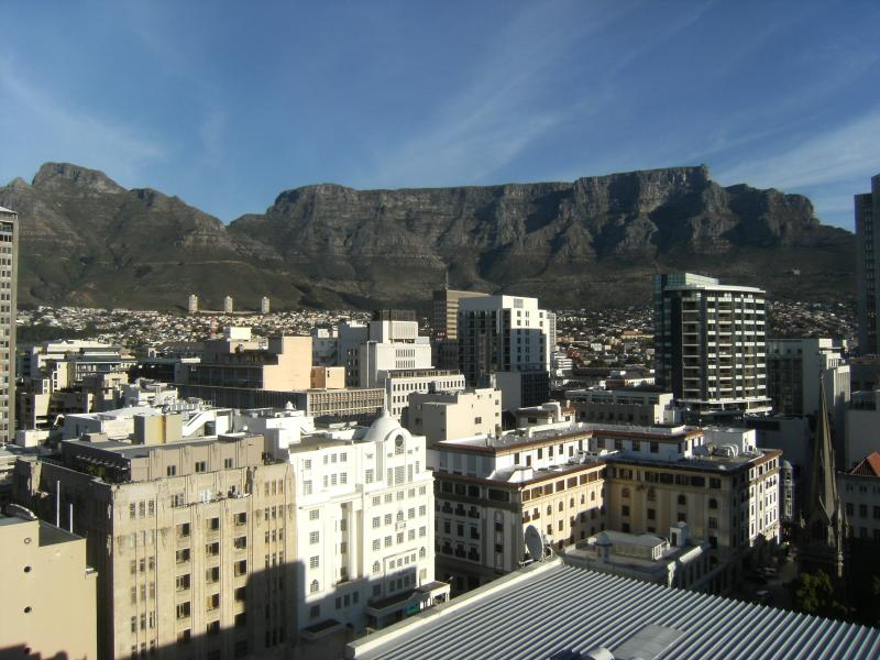 Stunning view of Table Mountain from the balcony