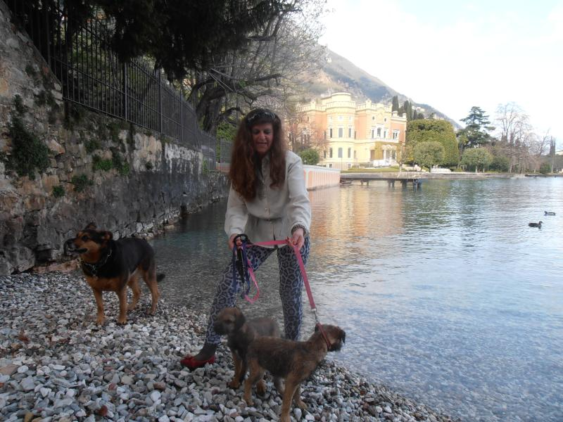 Lake Garda Gargnano Villa Feltrinelli there are dog beaches and the lake is warm enough to swim in