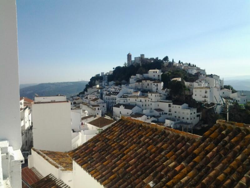 View of Casares from roof terrace