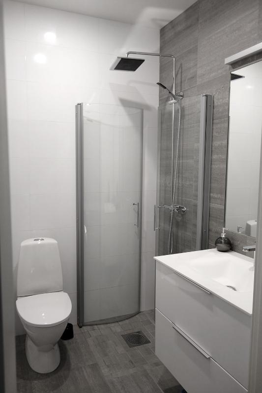 Upper bathroom with shower. 2nd floor.