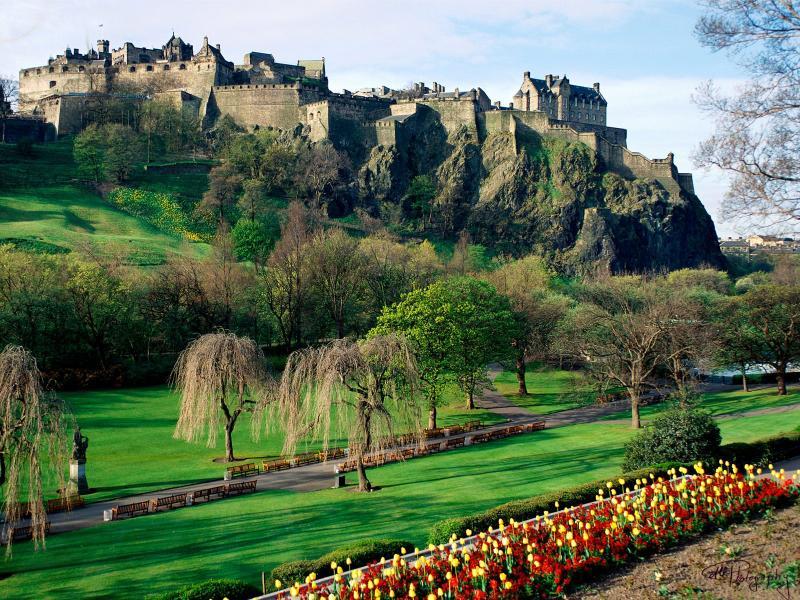 Castelo de Edimburgo é facilmente acessível a partir de nosso apartamento