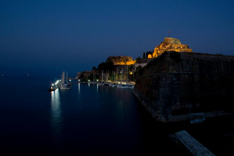 Old fortress in Corfu town.
