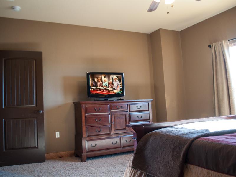 Master Bedroom has a Flat Screen