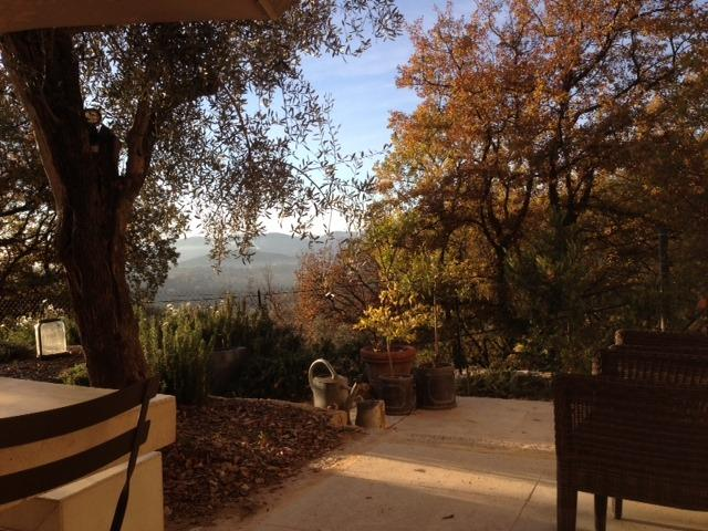 View from the terrace of the chapel of the Domaine St. Sauveur in Grasse
