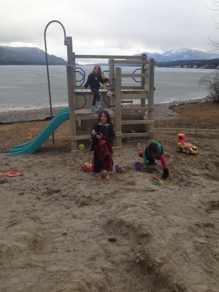 Play center and sand box also at the beach.