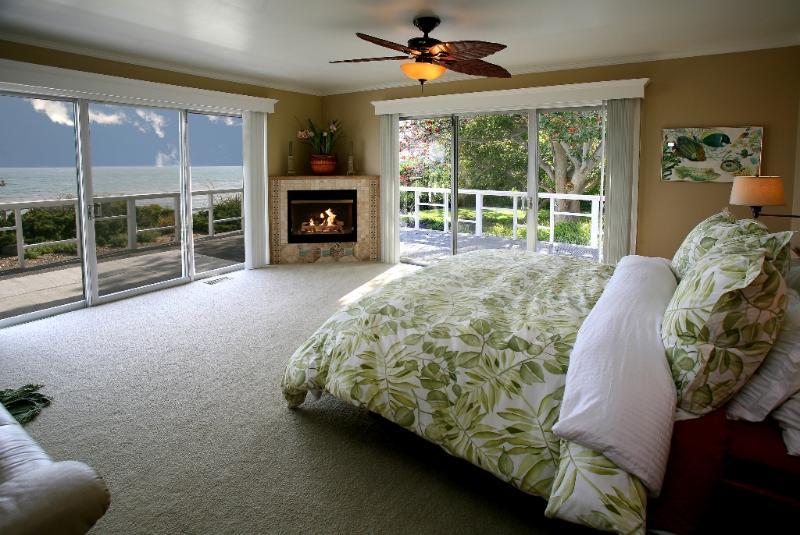 Slaapkamer met open haard
