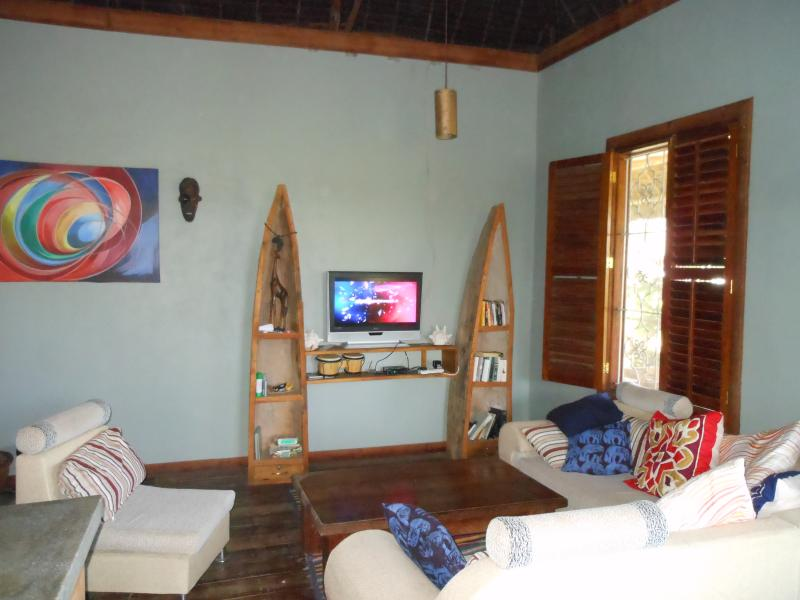 the TV   lounge &  living  room