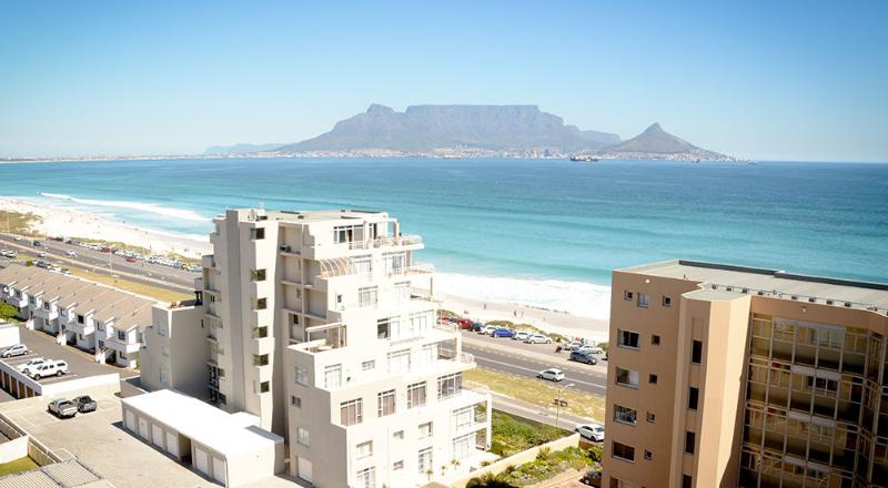 A Spectacular view of Table Mountain from the Appartment