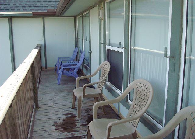 Plenty of seating on the patio.