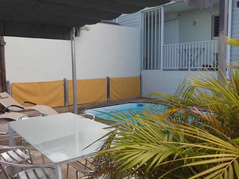 la piscine vue du coin douche