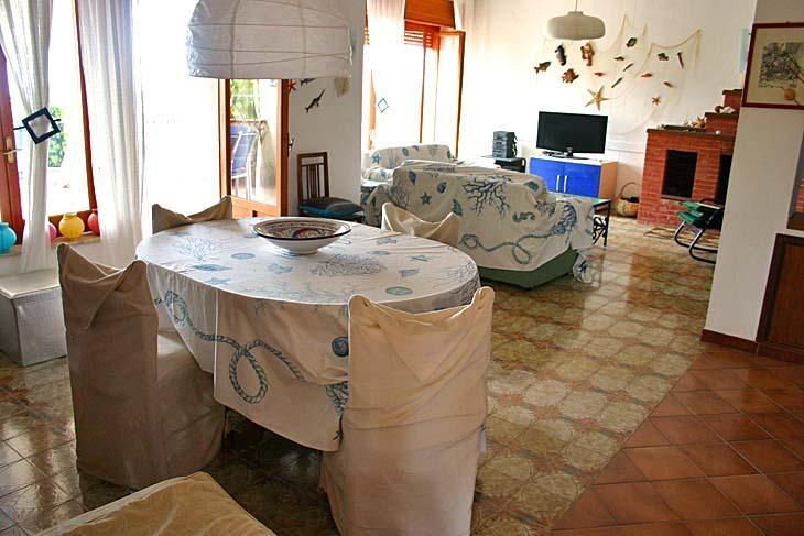 Sala de estar com chaminé