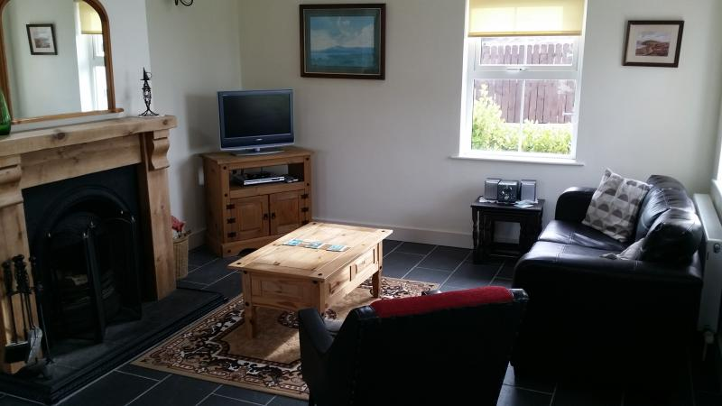 living area with real log fire (if needed!)
