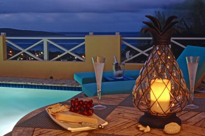 Ambiente romántico en la noche