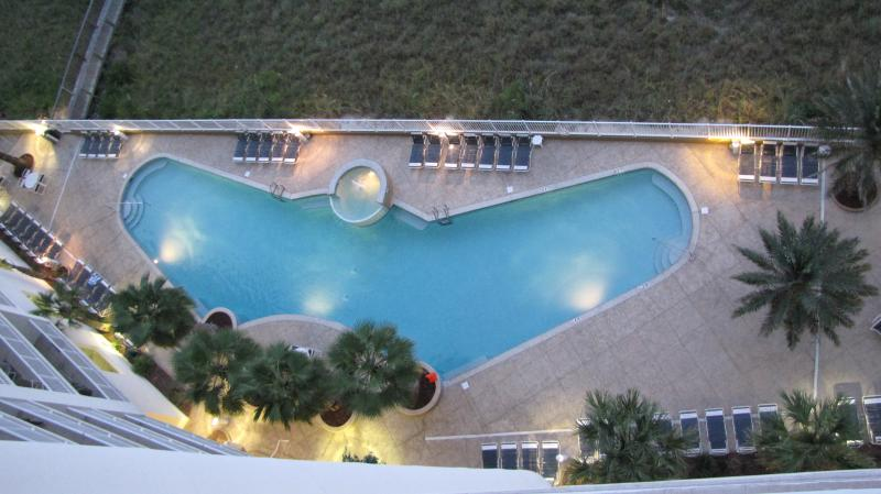 Outdoor pool, view from 10th floor