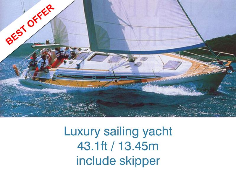 The best way of spending your holiday !  PRICE INCLUDES ALL BOAT WITH SKIPPER - UP TO 6 PERSONS!