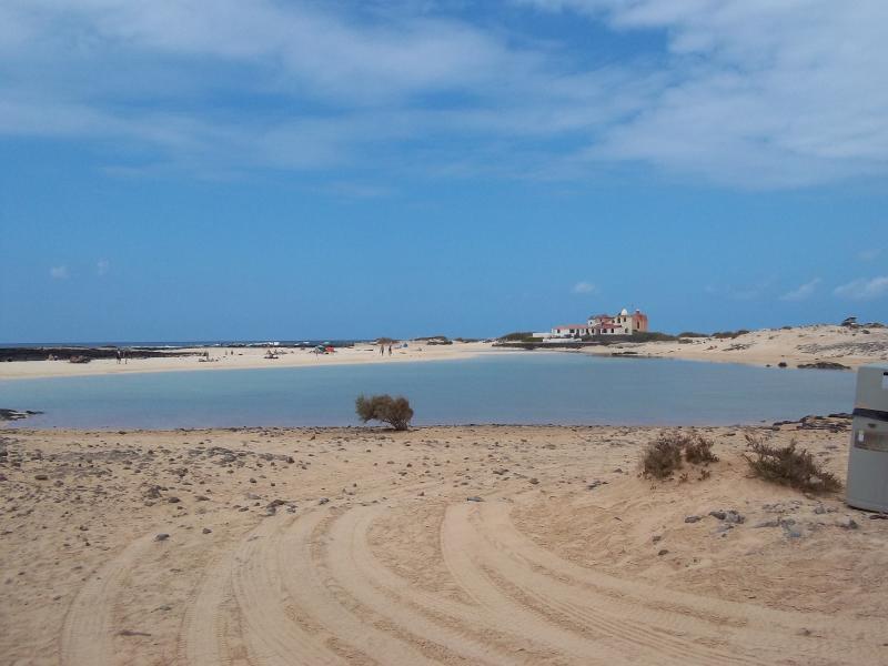 A lagoon at El Cotillo