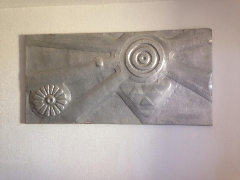 cuadro tallado de metal del salòn