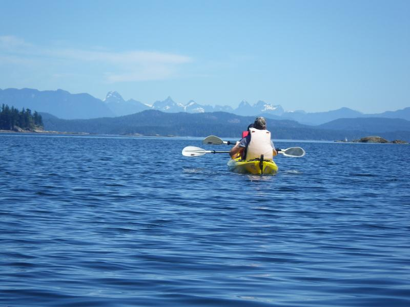 Tours de kayaks locales ofrecen impresionantes vistas.