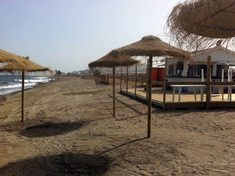 Nearby beach bar.