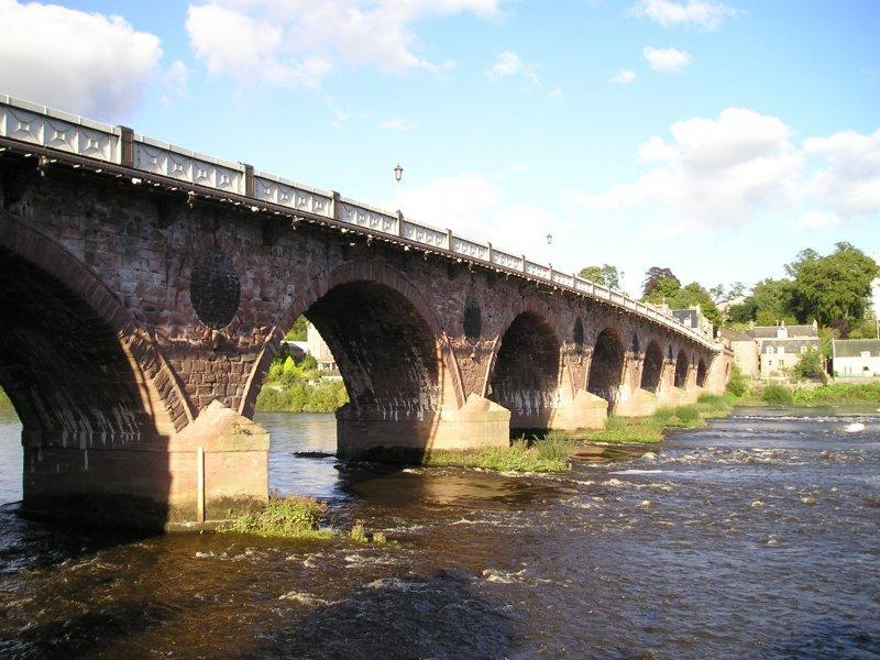 Smeatons Bridge (The auld brig) completed 1771