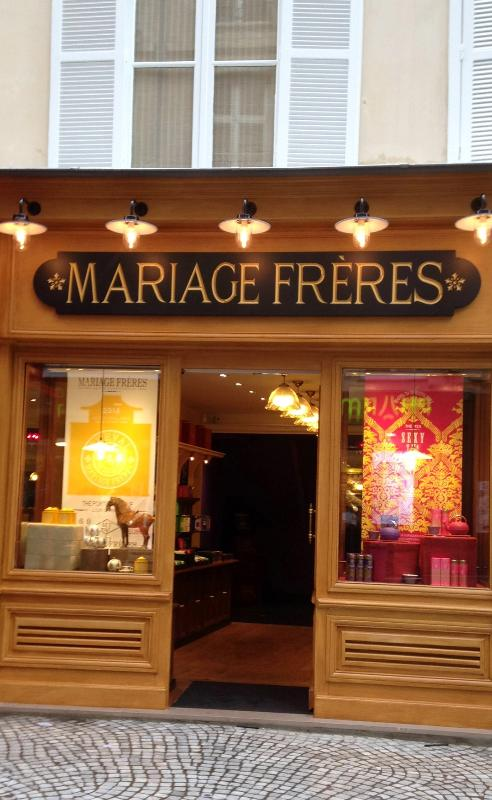 Around the corner - Mariage Freres Tea shop, one of the best