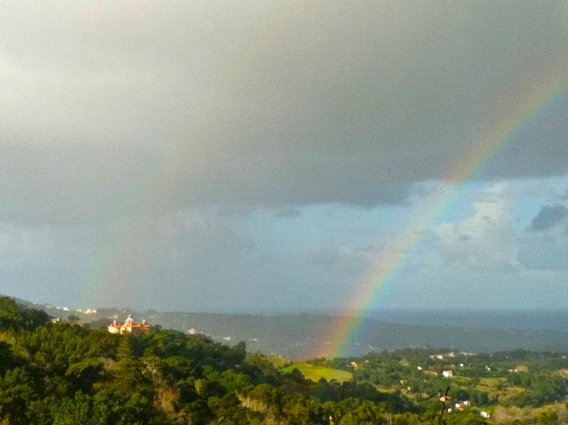 Rainbows over the valley