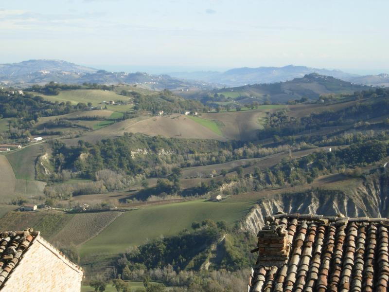 View from the village of Santa Vittoria to ward the sea