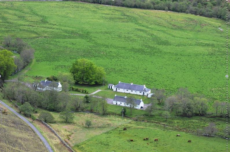 Birdseye view of Attadale Holiday Cottages