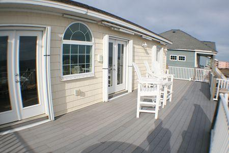 Newly expanded deck
