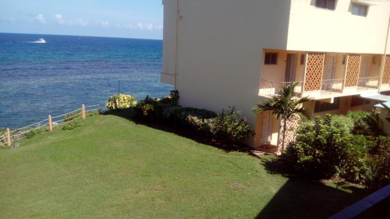carib apartment block external view
