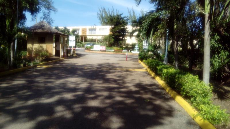 carib - security gate at entrance