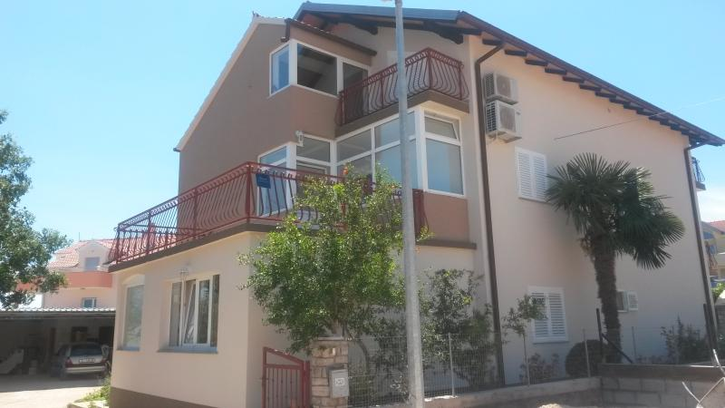 House, and main terace of apartment on 1st floor