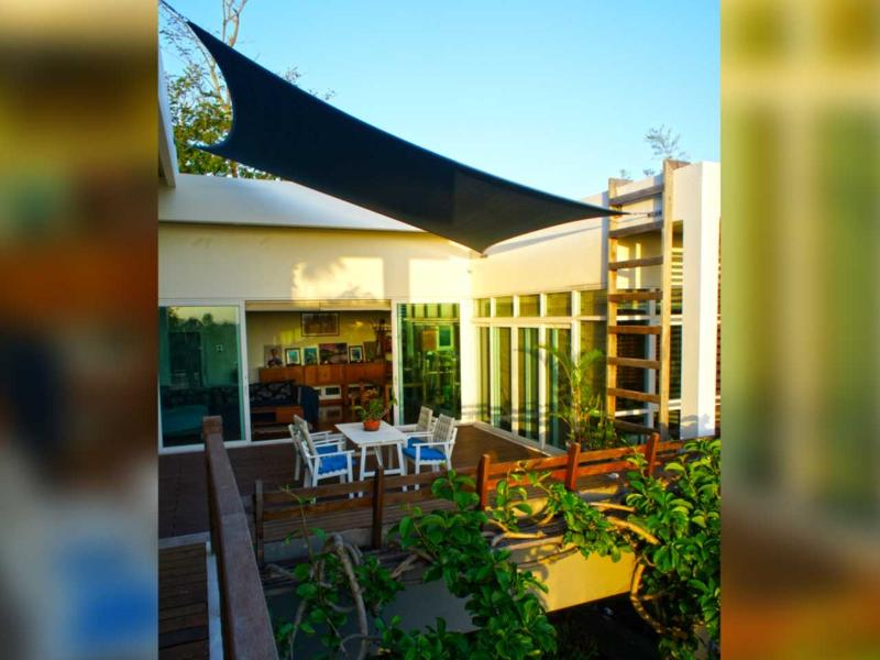 Australian shade sail | The Levels | luxury, sea-view, villa for rent, Koh Lanta, Thailand