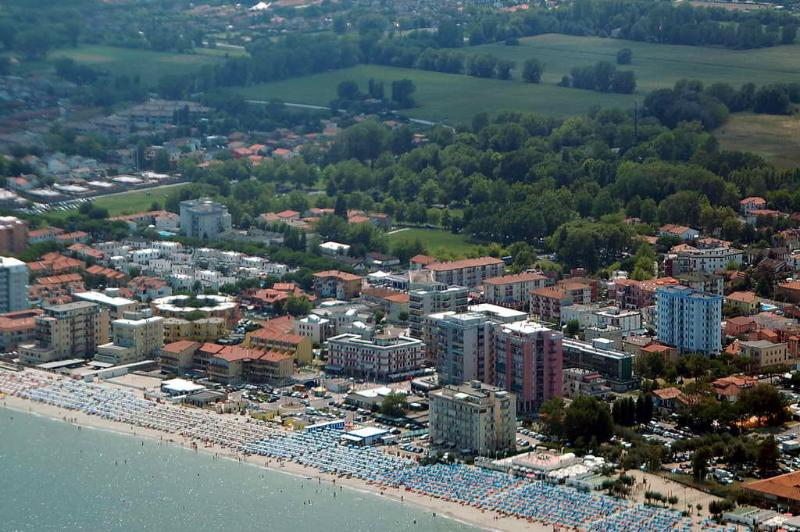 Aerial view of Lido Pomposa