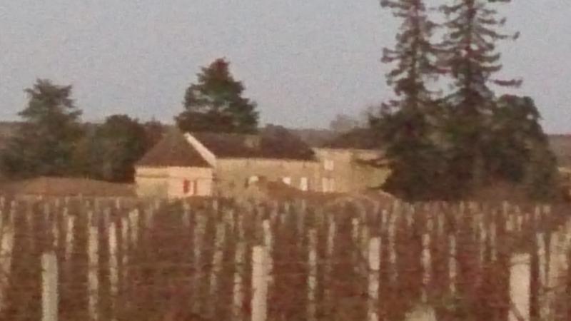 Villotte vu depuis les vignes en hiver