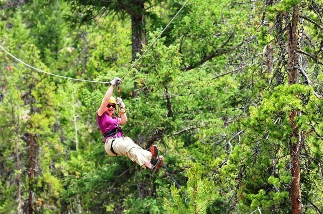 Zip Lining is only 2 miles from Tryon Bay Lake House.
