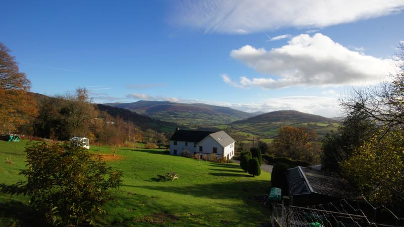 The Acre Bwlch Brecon, looking towards the Black mountains. Set in two acres of private grounds.