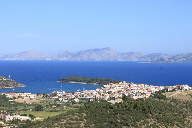 Ermione village and Hydra island in the horizon