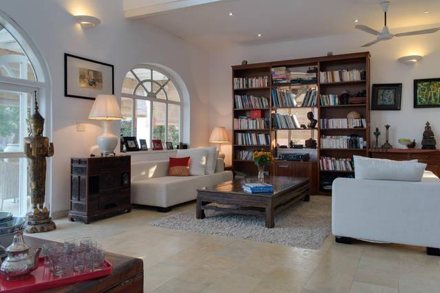 The 3 bedrooms villa's living room