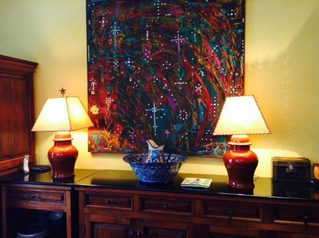 Original art throughout the home